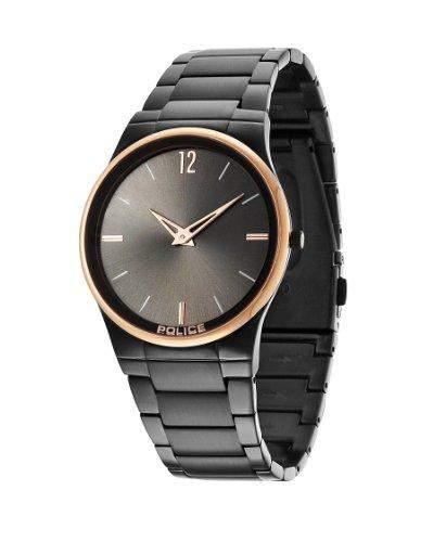 Police Herren-Armbanduhr XL Analog Quarz Edelstahl beschichtet PL12744JRSBR61M