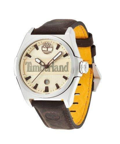 Timberland Herren-Armbanduhr XL Analog Quarz Leder TBL13329JS07A