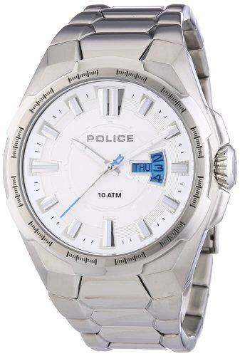 Police Herren-Armbanduhr XL SEAL Analog Quarz Edelstahl P13451JS-04M