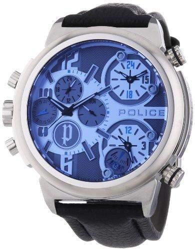 Police Herren-Armbanduhr XL PYTHON Analog Quarz Leder P13595JS-13