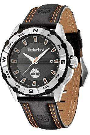 Timberland Herren-Armbanduhr Shoreham Analog Quarz Leder 13897JS02