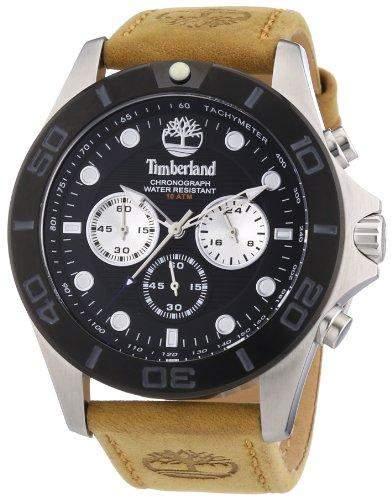Timberland Herren-Armbanduhr XL Analog Quarz Leder TBL13909JSTB02