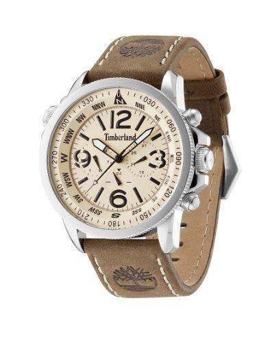 Timberland Herren-Armbanduhr XL Analog Quarz Leder TBL13910JS07