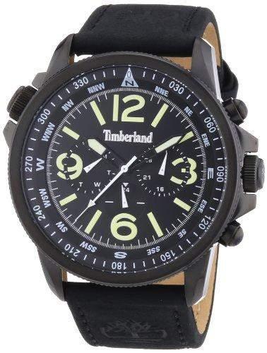 Timberland Herren-Armbanduhr XL Analog Quarz Leder TBL13910JSB02