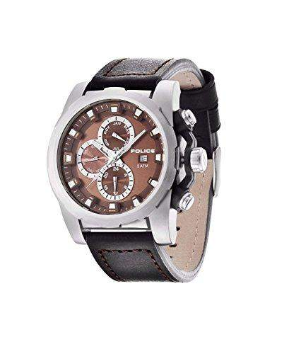 Police Herren-Armbanduhr XL SPEEDSTER Analog Quarz Leder PL13889JPBS04