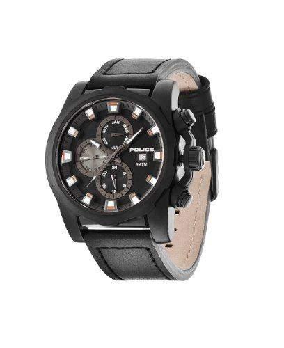 Police Herren-Armbanduhr Analog Quarz Leder PL13928JSB02