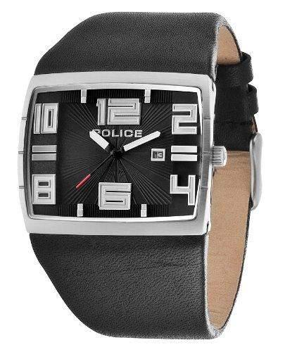 Police Herren-Armbanduhr XL VISION Analog Quarz Leder PL13938JS02