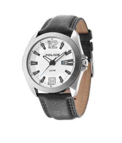 Police Herren-Armbanduhr RANGER II Analog Quarz Leder 14103JS04