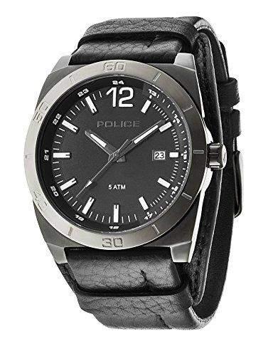 Police Herren-Armbanduhr Analog Quarz Leder 14107JSBU02