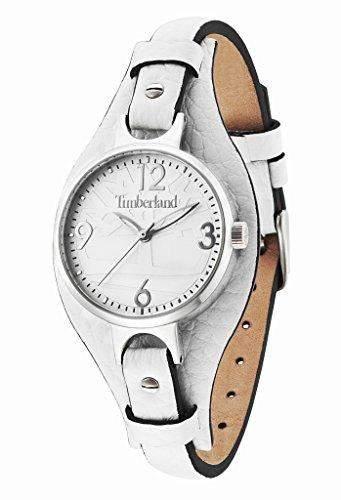 Timberland Deering WomenHerren-Armbanduhr 17251562 Analog-Anzeige und weisse Lederband 14203LS01