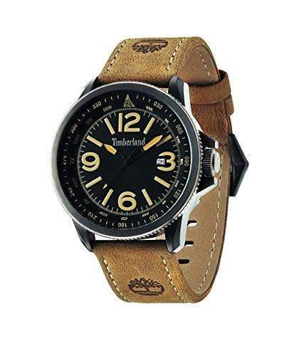 Timberland Herren-Armbanduhr Analog Quarz Leder 14247JSBU02