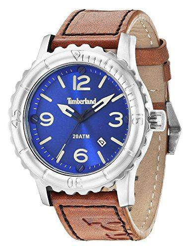 Timberland Herren-Armbanduhr CRANSTON Analog Quarz Leder 14324JS03