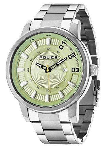 POLICE Herren-Armbanduhr SUNSET Analog Quarz Edelstahl P14375JSU-19M