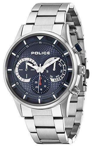 POLICE Herren-Armbanduhr DRIVER Analog Quarz Edelstahl P14383JS-03M