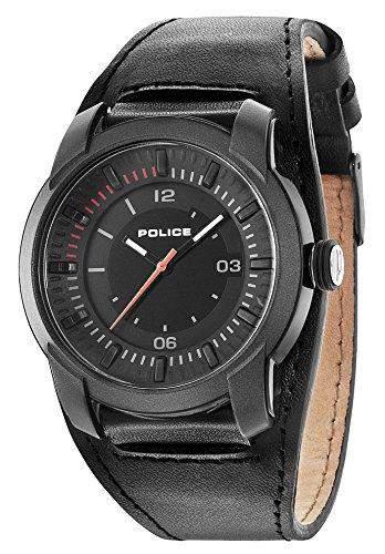 POLICE Herren-Armbanduhr APOLLO Analog Quarz Leder P14438JPGYB-02
