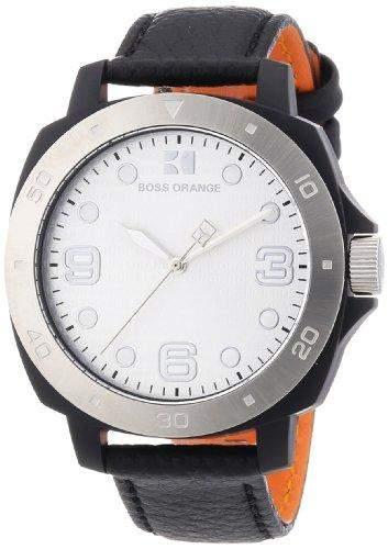 Boss Orange Damen-Armbanduhr Analog Quarz Leder 1502289