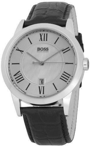 Hugo Boss Herren-Armbanduhr XL Gents Classic Analog Leder 1512439