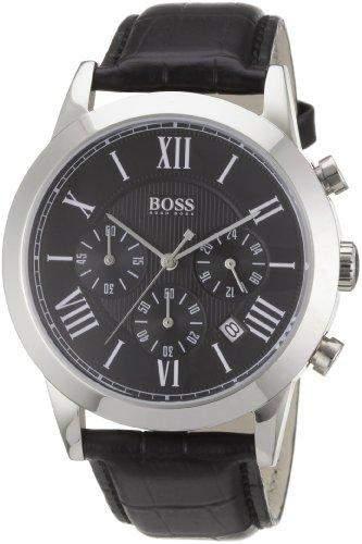 Hugo Boss Herren-Armbanduhr Analog Quarz Leder 1512574