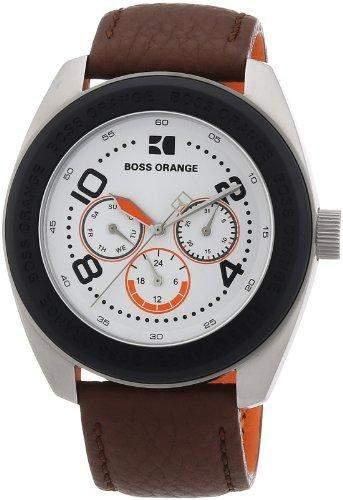 Boss Orange Herren-Armbanduhr XL Analog Quarz Leder 1512614