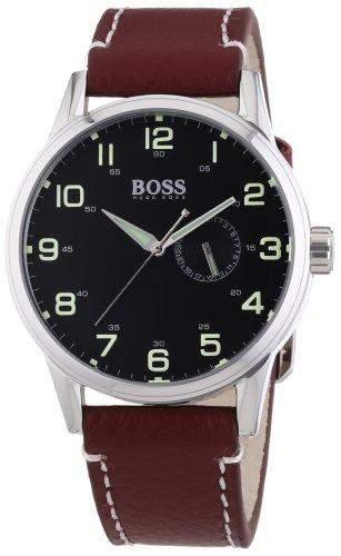 Hugo Boss Herren-Armbanduhr Analog Quarz Leder 1512723