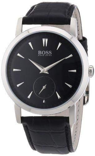 Hugo Boss Herren-Armbanduhr XL Analog Quarz Leder 1512775