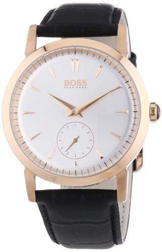Hugo Boss Herren-Armbanduhr XL Analog Quarz Leder 1512776