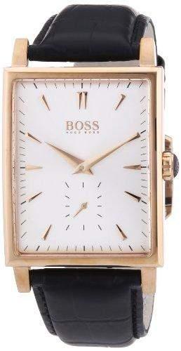 Hugo Boss Herren-Armbanduhr Analog Quarz Leder 1512785