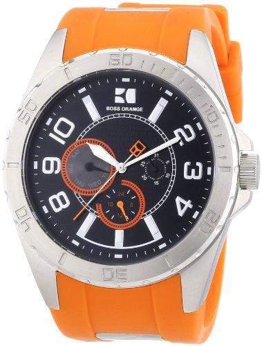 Boss Orange Herren-Armbanduhr XL Analog Quarz Silikon 1512812