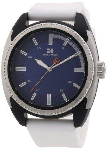 Boss Orange Herren-Armbanduhr XL Analog Quarz Silikon 1512825