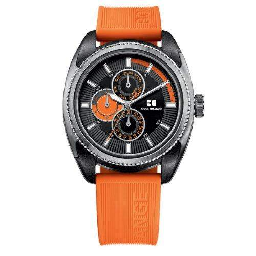 Boss Orange Herren-Armbanduhr XL Analog Quarz Silikon 1512826