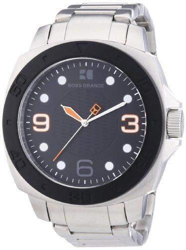 Boss Orange Herren-Armbanduhr XL Analog Quarz Edelstahl 1512842