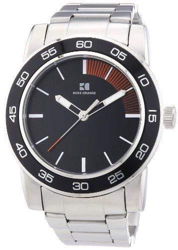 Boss Orange Herren-Armbanduhr XL Analog Quarz Edelstahl 1512859