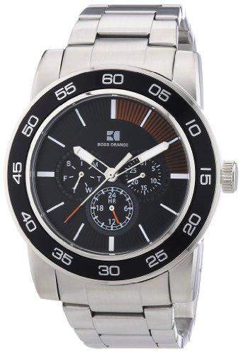 Boss Orange Herren-Armbanduhr XL Multifunktion Analog Quarz Edelstahl 1512861