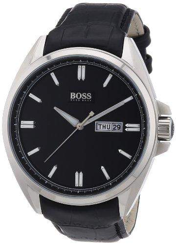 Hugo Boss Herren-Armbanduhr XL Analog Quarz Leder 1512874