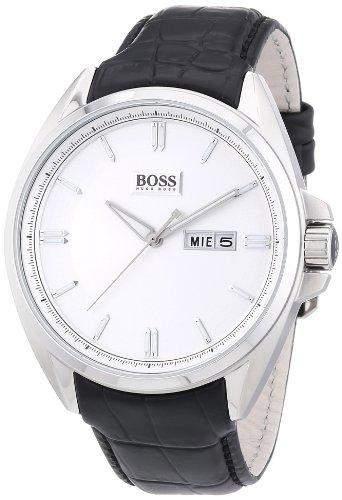 Hugo Boss Herren-Armbanduhr XL Analog Quarz Leder 1512875