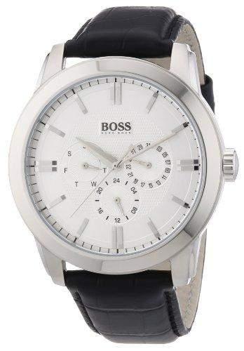 Hugo Boss Herren-Armbanduhr XL Analog Quarz Leder 1512892