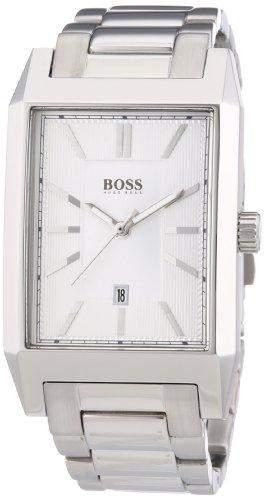 Hugo Boss Herren-Armbanduhr Analog Quarz Edelstahl 1512918