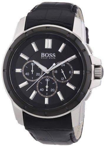 Hugo Boss Herren-Armbanduhr Analog Quarz Leder 1512926