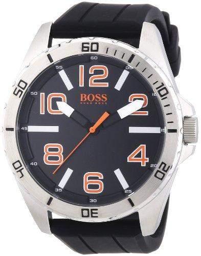 Boss Orange Herren-Armbanduhr XL Big Times Analog Quarz Silikon 1512943