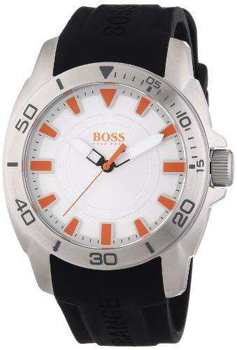 Boss Orange Herren-Armbanduhr XL Big Day Analog Quarz Silikon 1512949