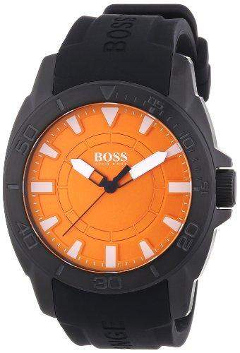 Boss Orange Herren-Armbanduhr XL Big Day Analog Quarz Silikon 1512952