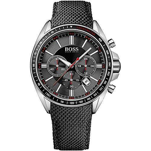Hugo Boss Herren-Armbanduhr Analog Quarz Nylon 1513087