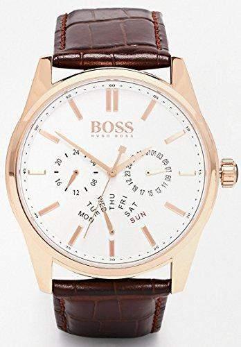 Hugo Boss Herren-Armbanduhr Analog Quarz Leder 1513125