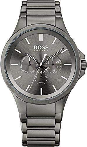 Hugo Boss Herren-Armbanduhr Analog Quarz Edelstahl 1513173