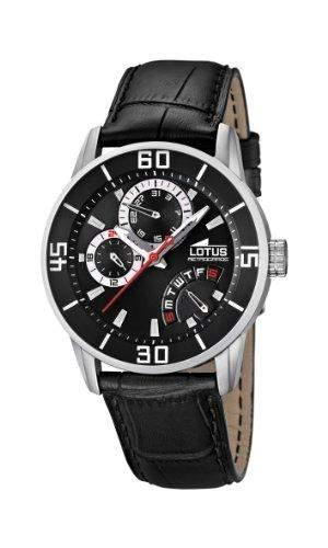 Lotus Herren-Armbanduhr XL Analog Quarz Leder 157983