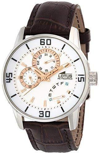 Lotus Herren-Armbanduhr XL Analog Quarz Leder 157987