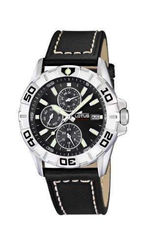 Lotus Herren-Armbanduhr Analog leder schwarz 158134