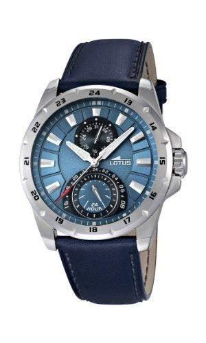Lotus Herren-Armbanduhr Analog Quarz Leder 158442