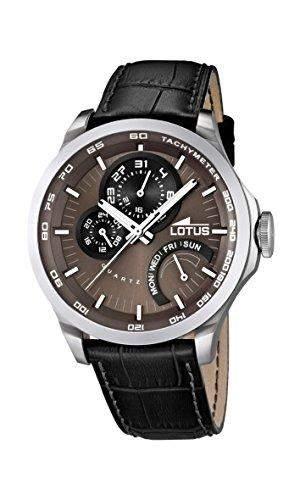 Lotus Herren-Armbanduhr Analog Quarz Leder 158463
