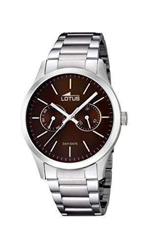 Lotus Herren-Armbanduhr XL Analog Quarz Edelstahl 159542